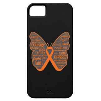 Leukemia Butterfly Collage of Words iPhone 5 Covers