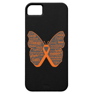 Leukemia Butterfly Collage of Words iPhone 5 Cases