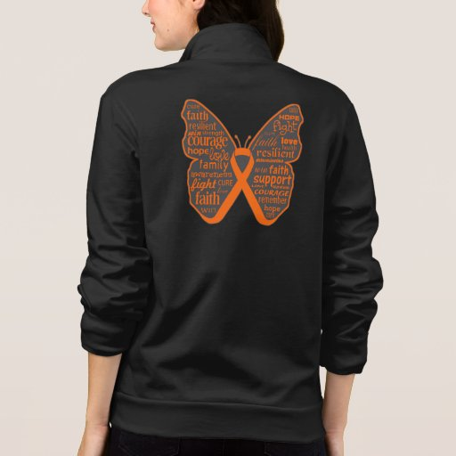 Leukemia Butterfly Collage of Words Tshirt