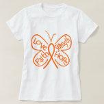 Leukemia Butterfly Inspiring Words Tshirts