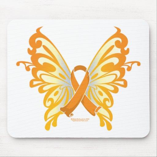 Leukemia Butterfly & Ribbon Mouse Pad