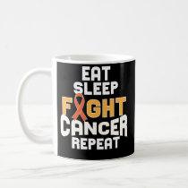 Leukemia Cancer Awareness Coffee Mug Orange Ribbon