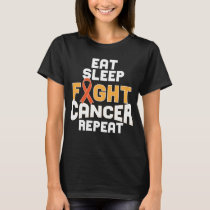 Leukemia Cancer Awareness Shirt Orange Ribbon Gift