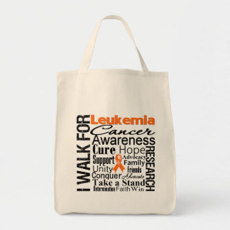 Leukemia Cancer Awareness Walk Grocery Tote Bag