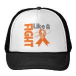 Leukemia Cancer Chic Fight Like A Girl Ribbon Mesh Hats