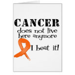 Leukemia Cancer Does Not Live Here Anymore Greeting Cards