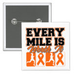 Leukemia Cancer Every Mile is Worth It Button