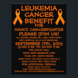"""Leukemia Cancer Fighter Benefit Flyer<br><div class=""""desc"""">This beautiful leukemia cancer benefit flyer is perfect for advertising a cancer benefit and auction once you personalize with all your own benefit details in the provided boxes. See our store for coordinating leukemia cancer benefit posters and other specific types of cancer benefit flyers.</div>"""