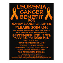 Leukemia Cancer Fighter Benefit Flyer