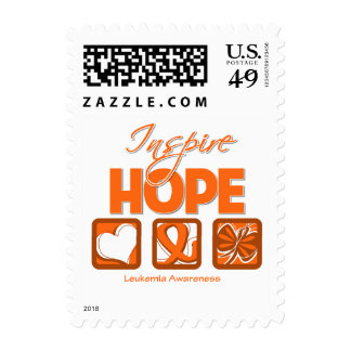 Leukemia Cancer Inspire Hope Postage Stamps