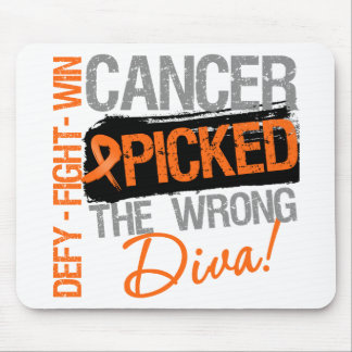 Leukemia Cancer Picked The Wrong Diva Mouse Pad
