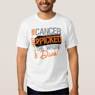 Leukemia Cancer Picked The Wrong Diva Shirt