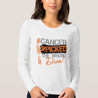 Leukemia Cancer Picked The Wrong Diva Shirts