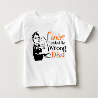 Leukemia Cancer Picked The Wrong Diva T-shirts