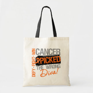 Leukemia Cancer Picked The Wrong Diva Tote Bag