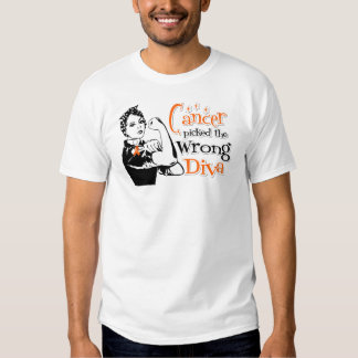 Leukemia Cancer Picked The Wrong Diva Tshirt