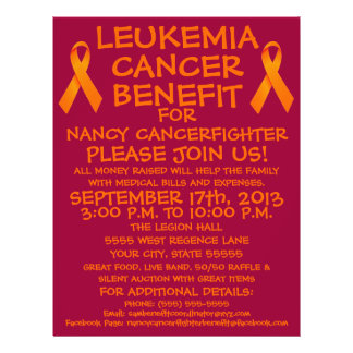 Leukemia Cancer Ribbon Benefit Flyer