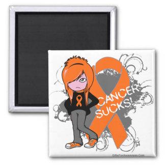 Leukemia Cancer Sucks (Girl) Magnets