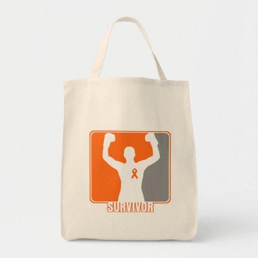 Leukemia Cancer Winning Survivor Grocery Tote Bag
