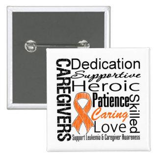 Leukemia Caregivers Collage Pinback Button