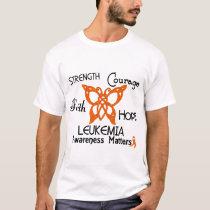 Leukemia Celtic Butterfly 3 T-Shirt
