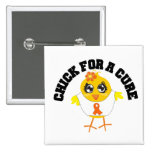 Leukemia Chick For A Cure Pin