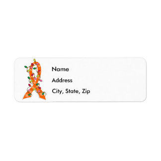 Leukemia Christmas Lights Ribbon Label