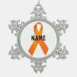 Leukemia Christmas Ribbon Ornament