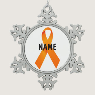 Leukemia Christmas Ribbon Ornament