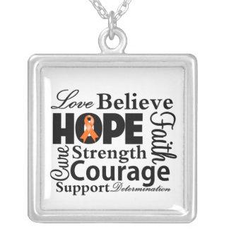 Leukemia Collage of Hope Necklace