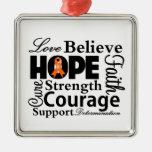 Leukemia Collage of Hope Ornament