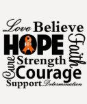 Leukemia Collage of Hope Tshirts