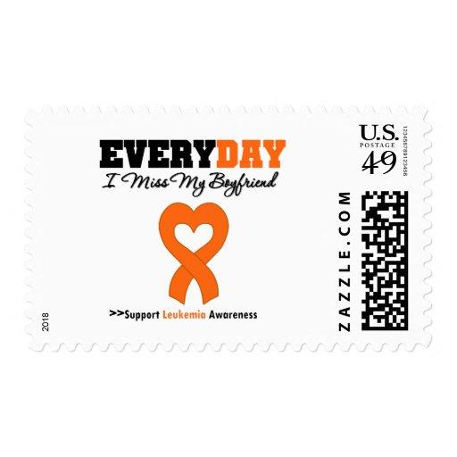 Leukemia Every Day I Miss My Boyfriend Postage Stamps