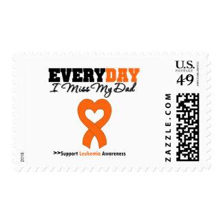 Leukemia Every Day I Miss My Dad Postage Stamp