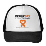 Leukemia Every Day I Miss My Daughter Trucker Hat