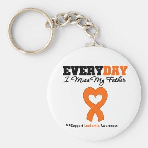 Leukemia Every Day I Miss My Father Keychains