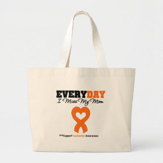 Leukemia Every Day I Miss My Mom Canvas Bag
