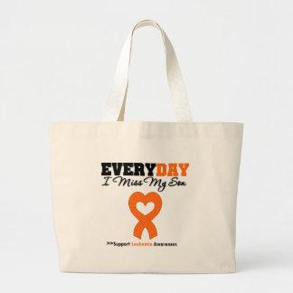 Leukemia Every Day I Miss My Son Canvas Bag