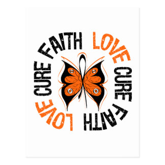 Leukemia Faith Love Cure Postcard