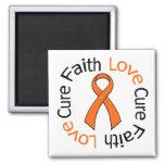 Leukemia Faith Love Cure Refrigerator Magnets