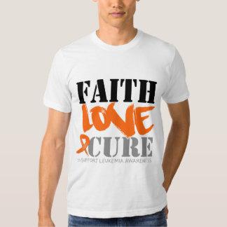 Leukemia Faith Love Cure T-shirt