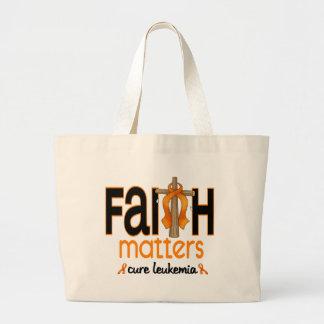 Leukemia Faith Matters Cross 1 Bag