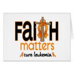 Leukemia Faith Matters Cross 1 Cards