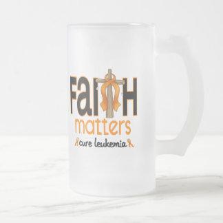 Leukemia Faith Matters Cross 1 16 Oz Frosted Glass Beer Mug