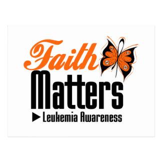 Leukemia FAITH MATTERS Postcard
