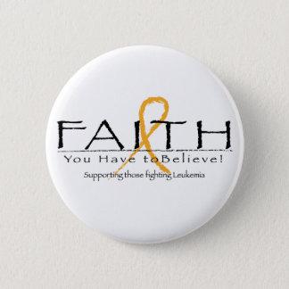 Leukemia faith-ribbon button