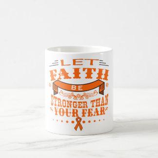 Leukemia Faith Stronger than Fear Coffee Mug
