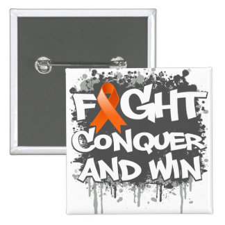 Leukemia Fight Conquer and Win Button