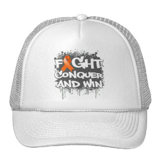 Leukemia Fight Conquer and Win Mesh Hat