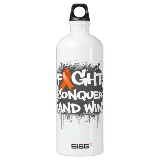 Leukemia Fight Conquer and Win Water Bottle
